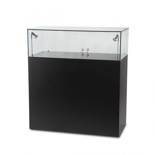 Glass Cabinet with Black Base