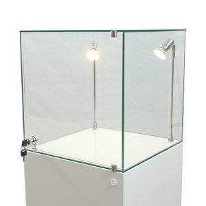 Glass Cabinets with Glass Doors