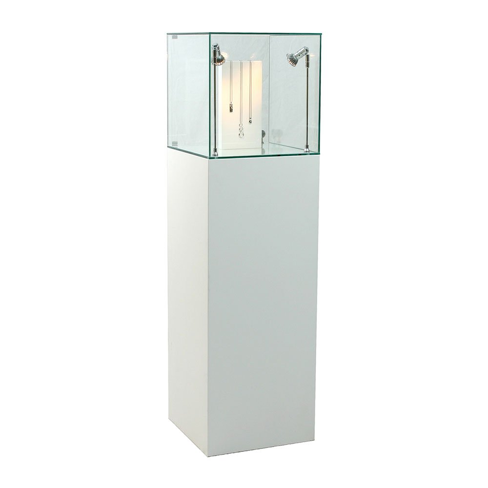 Hire Glass Display Cabinets from ExhibitionPlinths.co.uk