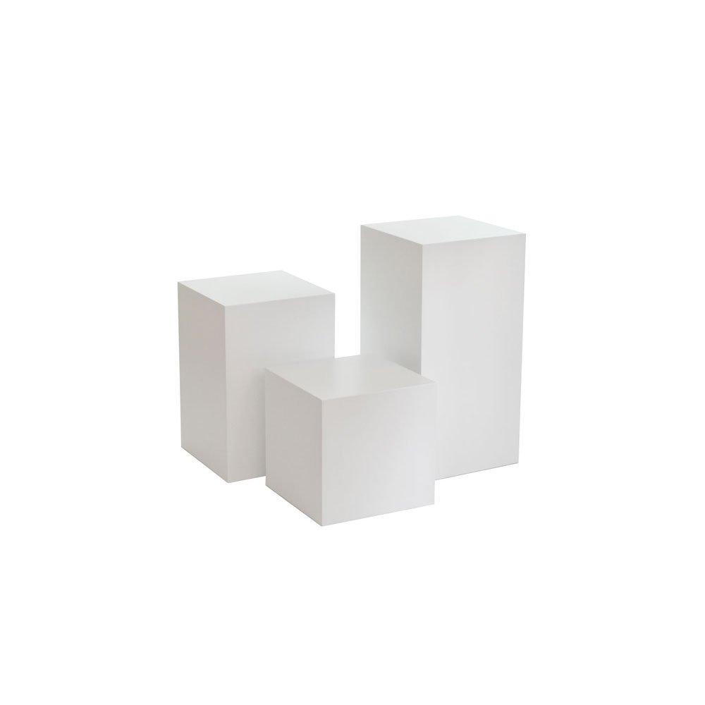 Exhibition Display Plinths : Shop display plinths set of three varying heights