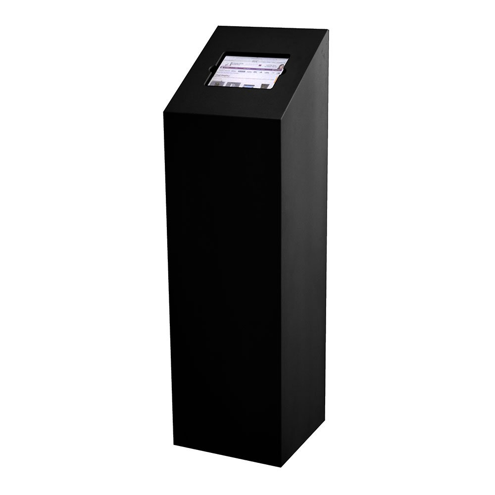 Exhibition Booth Form : Ipad floor stand plinth in black