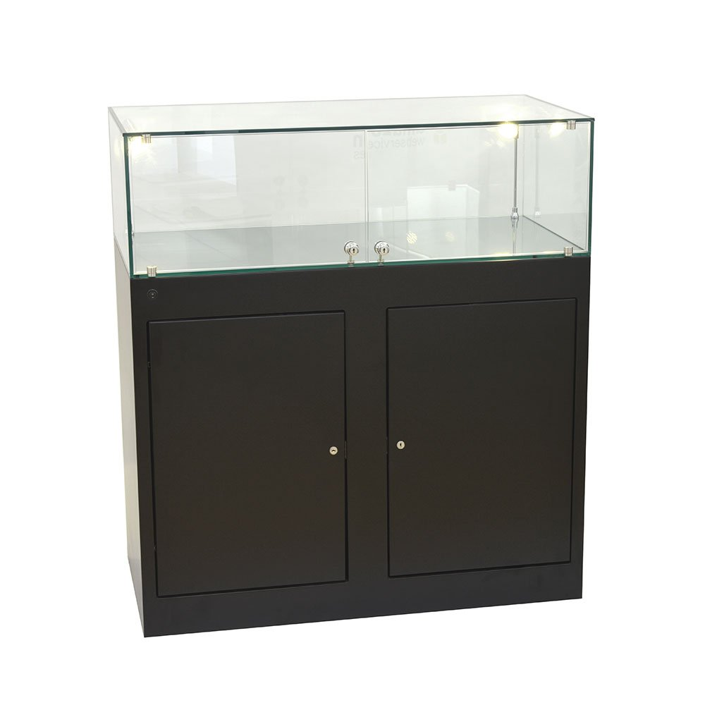 Exhibition Display Cabinets : Black glass display cabinets exhibition plinths