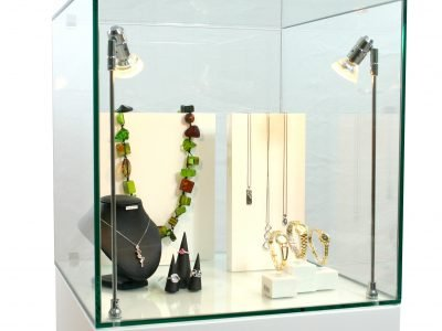 Glass Display Cabinet Hire Jewellery