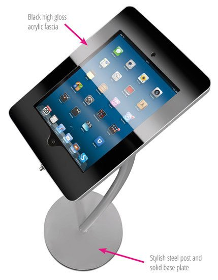 Ipad Exhibition Stand Hire : Curved ipad floor stand holder
