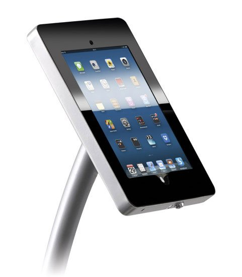 Ipad Exhibition Stand Hire : Curved ipad floor stand hire holder