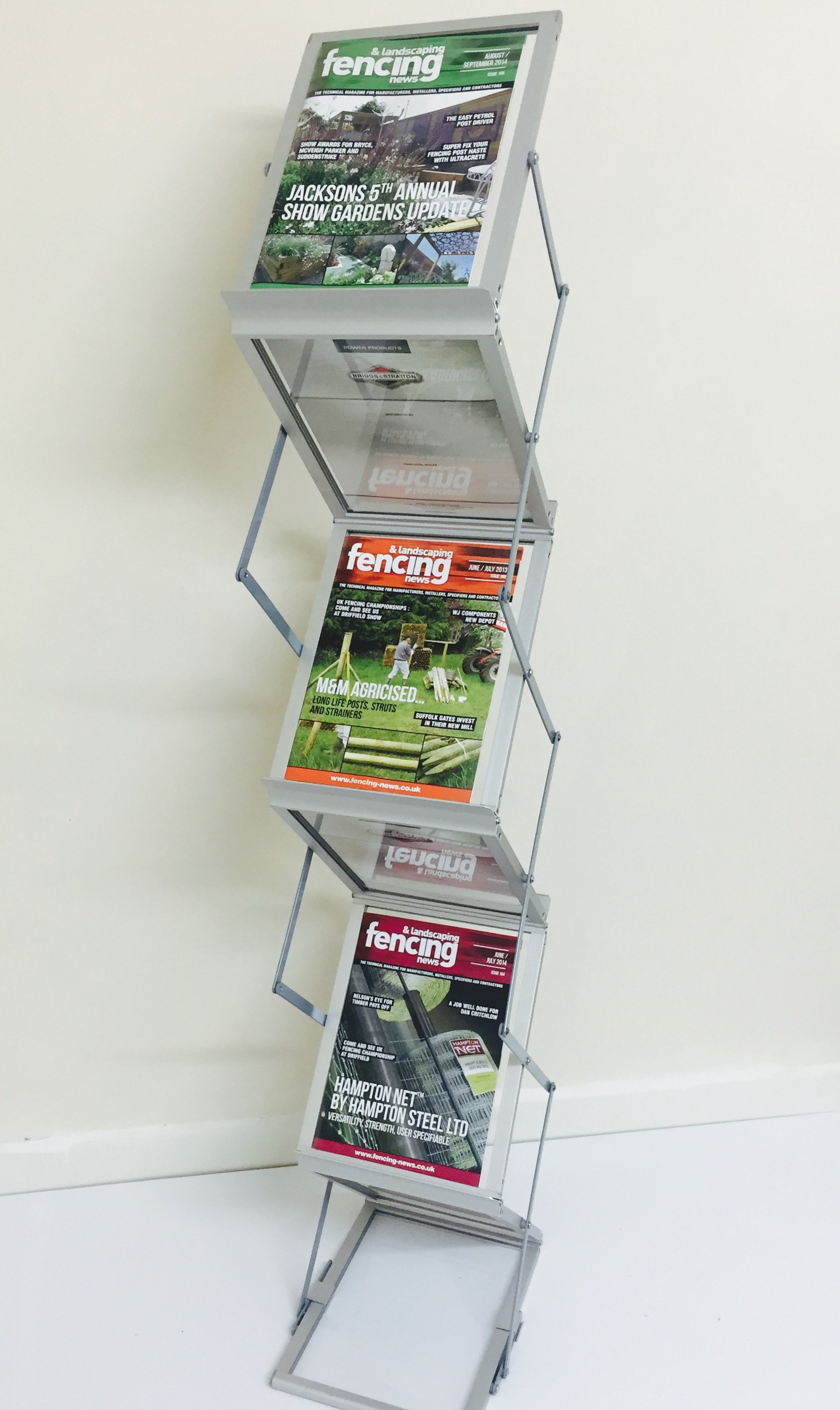 Exhibition Literature Stand : Folding literature display stand exhibition plinths