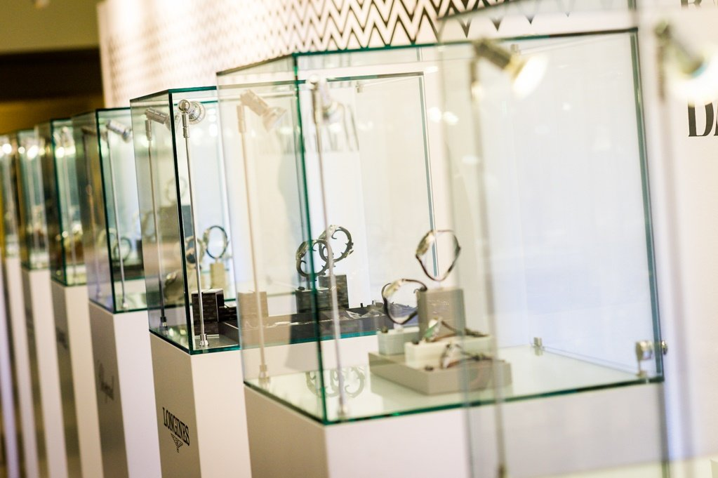 Display Stand Hire London : Jewellery display cabinets