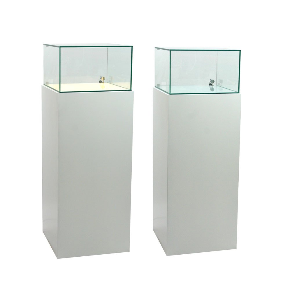 Glass display cabinet 50x50x30cm for Glass cabinet with lights