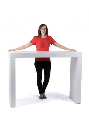 1.5m Standing Desk Flat Pack Exhibition Plinths