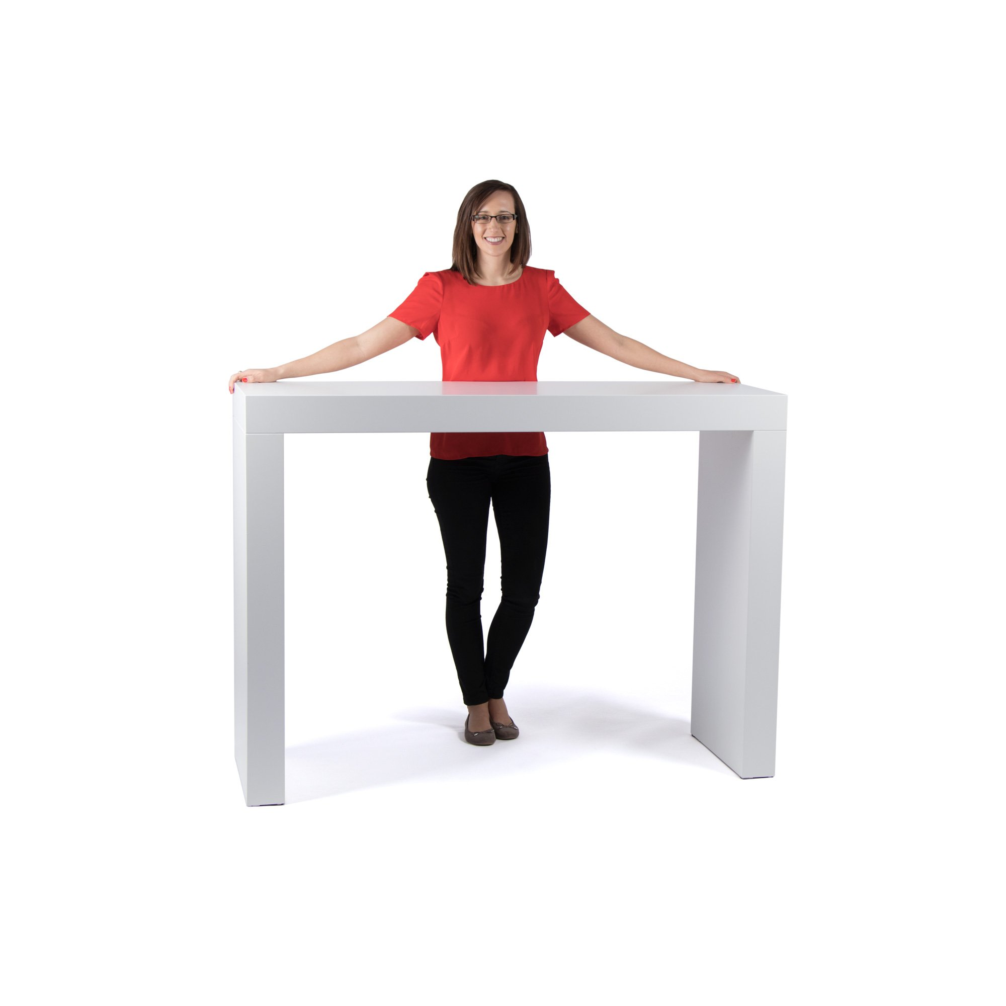 Exhibition Portable Flat Pack Furniture : Standing desk cm wide high available to